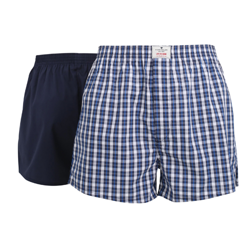 Boxershorts Tom Tailor - 2 Pack - Multi Donkerblauw (1)