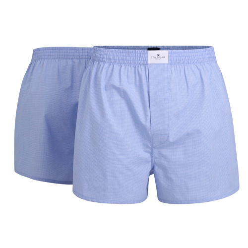 Boxershorts Tom Tailor - 2 Pack - Lichtblauw (1)
