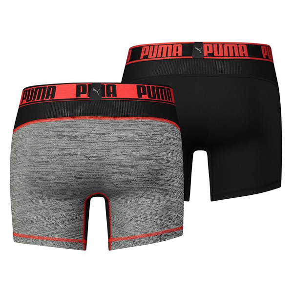 Puma boxershorts grizzly black / red (2)