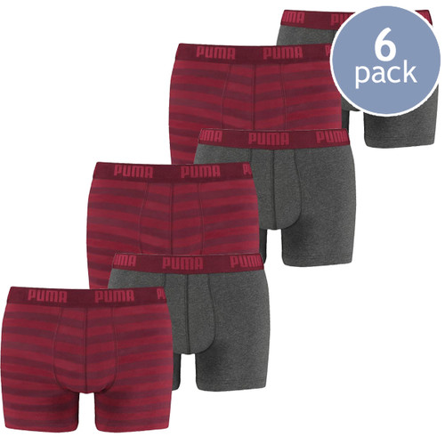 Puma boxershorts red striped - 6 Pack (1)