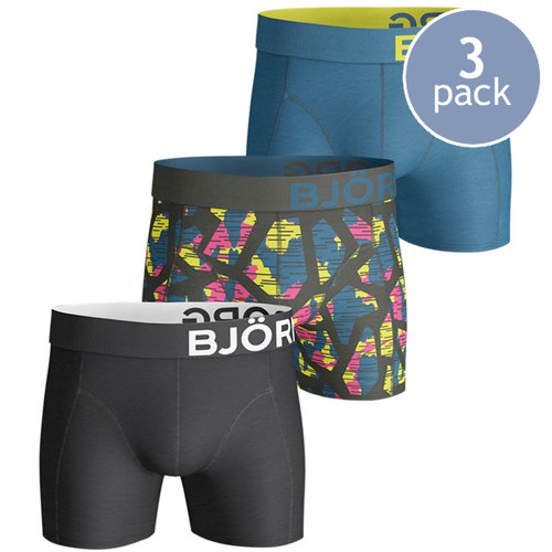 Björn Borg Boxershorts Texture Rosin - 3 Pack (1)
