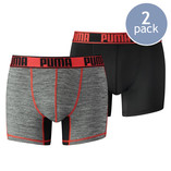 Puma boxershorts grizzly black / red - Thumbnail 1